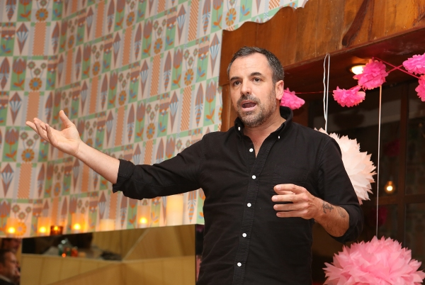 "Playwright Craig Wright speaks during a reception for New York's Rattlestick Playwrights Theater to celebrate its upcoming Los Angeles production of Daniel Talbott's ""Slipping"" held at the Beachwood Cafe on Tuesday, February 12, 2013 in Los Angeles, Cal"