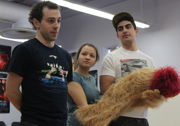 Photo Flash: CHAPLIN's Rob McClure Visits Cast of HT High School's AVENUE Q