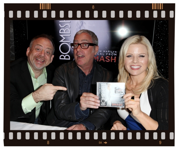FREEZE FRAME: Megan Hilty, Marc Shaiman & Scott Wittman at SMASH 'Bombshell' CD Signing