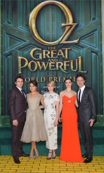 James Franco, Mila Kunis, Michelle Williams, Rachel Weisz, Zach Braff at OZ THE GREAT AND POWERFUL L.A. Film Premiere