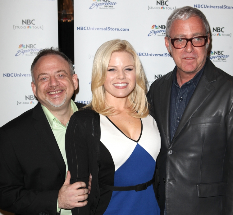 High Res Marc Shaiman, Megan Hilty & Scott Wittman