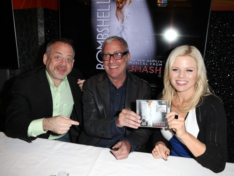High Res Marc Shaiman, Scott Wittman & Megan Hilty