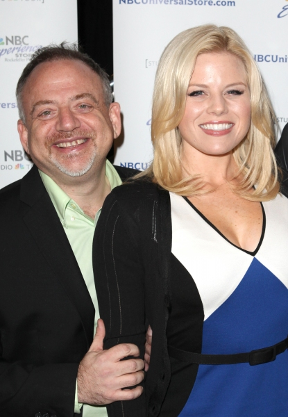 Marc Shaiman & Megan Hilty at Megan Hilty, Marc Shaiman & Scott Wittman Sign 'Bombshell' Albums
