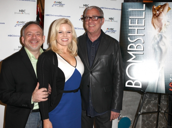 Marc Shaiman, Megan Hilty & Scott Wittman at Megan Hilty, Marc Shaiman & Scott Wittman Sign 'Bombshell' Albums