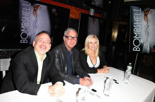 Marc Shaiman, Scott Wittman & Megan Hilty at Megan Hilty, Marc Shaiman & Scott Wittman Sign 'Bombshell' Albums