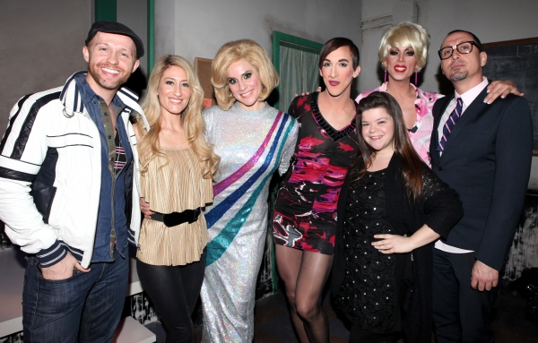 Marty Thomas, Kelly King, Kirsten Holly Smith, Marti Gould Cummings, Marissa Rosen, Sherry Vine, Michael Formika Jones at FOREVER DUSTY Celebrates 100th Performance with Sing-Along!