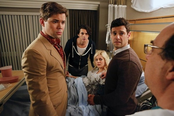 Andrew Rannells, Jayson Blair, Georgia King, Justin Bartha at First Look - 'Dog Children' Episode of NBC's THE NEW NORMAL