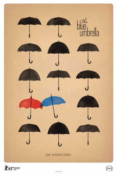 Photo Flash: Poster for Disney-Pixar's Short THE BLUE UMBRELLA