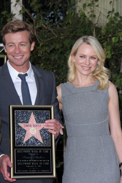 Photo Flash: THE MENTALIST's Simon Baker Receives Star on Hollywood Walk of Fame