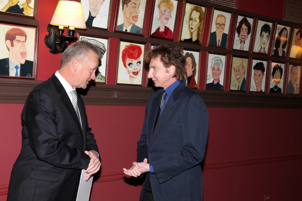 Barry Manilow and Restaurant Owner Max Klimavicius Photo