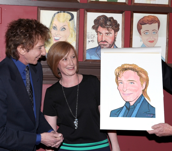 Barry Manilow with American Theatre Wing Executive Director Heather Hitchens  Photo