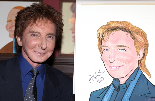 Barry Manilow celebrates Valentines Day with a beloved Broadway tradition.  Sardi�' Photo