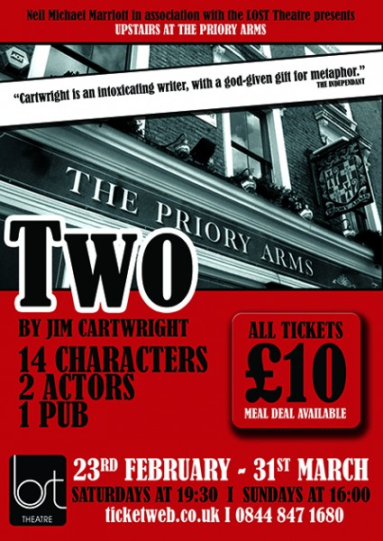 Neil Michael Marriott and LOST Theatre to Present TWO, Feb 23-March 31