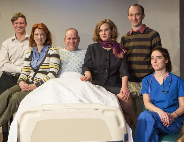 The cast (L to R) Lincoln Slentz (Brian), Angela Plank (Lisa Lyons), Charles Goad (Curtis Lyons), Diane Kondrat (Rita Lyons), Scot Greenwell (Ben Lyons) and Mercedes Martinez (nurse).
