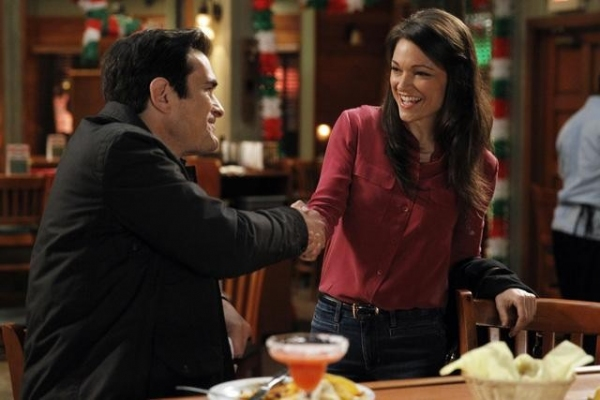 "MODERN FAMILY - ""Best Men"" - Mitch and Cam's best gal pal, Sal, makes one of her notorious surprise drop-ins, but this time with big news - she's getting married... tomorrow! Cam and Mitch are the best men, but they can't help but question whether this"