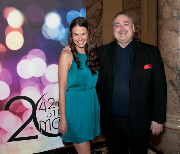 Special guest star Sutton Foster and 42nd Street Moon's Artistic Director Greg MacKellan