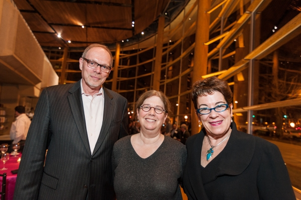 Executive Director Edgar Dobie, playwright-director Mary Zimmerman and Artistic Director Molly Smith