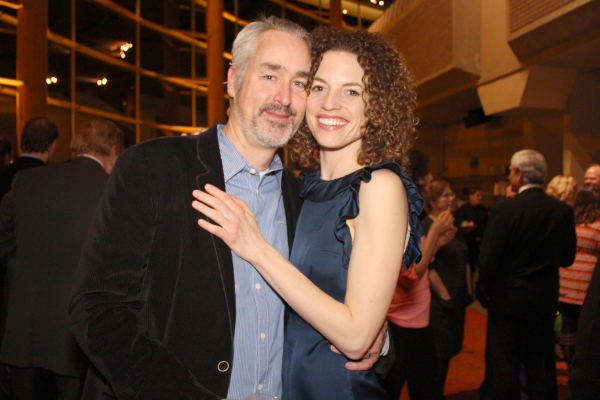 Cast member Louise Lamson with her husband