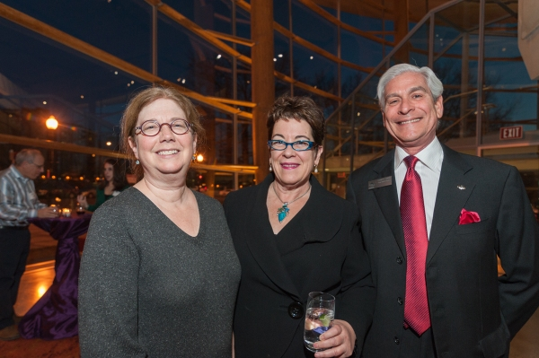 Playwright-director Mary Zimmerman, Artistic Director Molly Smith and Board Chair David Shiffrin