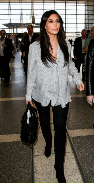 Kim Kardashian at LAX International Airport