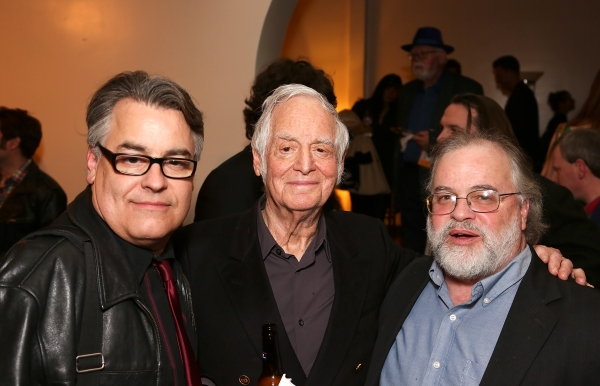 "From left, Director Pat Towne, Producer Matty Simmons and Musical Director/Song Writer Richard Levinson pose during the world premier of ""Sketches From The National Lampoon"" at the Hayworth Theatre on Friday, February 15, 2013 in Los Angeles, Calif. (Phot"