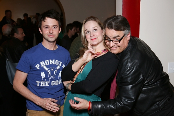 "From left, cast members John Milhiser, Cj Merriman and Director Pat Towne pose during the world premier of ""Sketches From The National Lampoon"" at the Hayworth Theatre on Friday, February 15, 2013 in Los Angeles, Calif. (Photo by Ryan Miller/Capture Imagi"