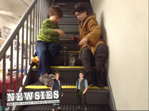 Photo Flash: Saturday Intermission Pics, Feb 16, Part 2 - NEWSIES Take Over, CINDERELLA's Manly Tattoos and More!