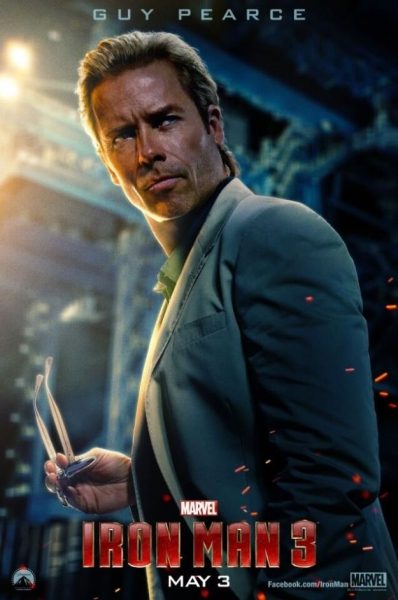 Photo Flash: First Look - Guy Pearce Featured in IRON MAN 3 Character Poster