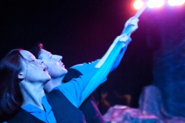 Esther Williamson and Dan Crane as twins Viola and Sebastian Photo
