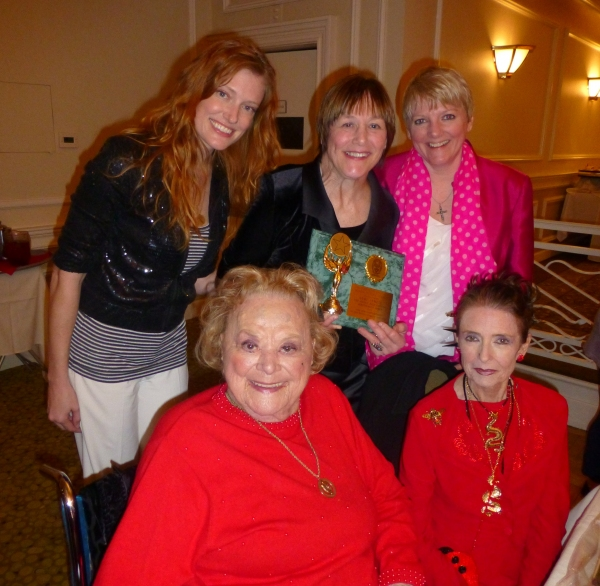 Kelsey Collins, Rose Marie, Geri Jewell (with award), Alison Arngrim and Margaret O'Brien