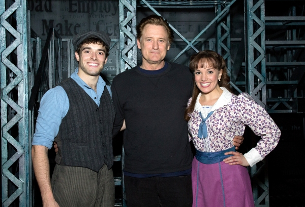 Corey Cott, Bill Pulllman, Kara Lindsay at Photo Coverage Exclusive: Original NEWSIES Star Bill Pullman Visits Nederlander Theatre!