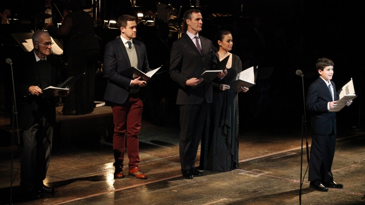 High Res Dick Latessa, Michael Arden, Howard McGillin, Lea Salonga & Lewis Grosso