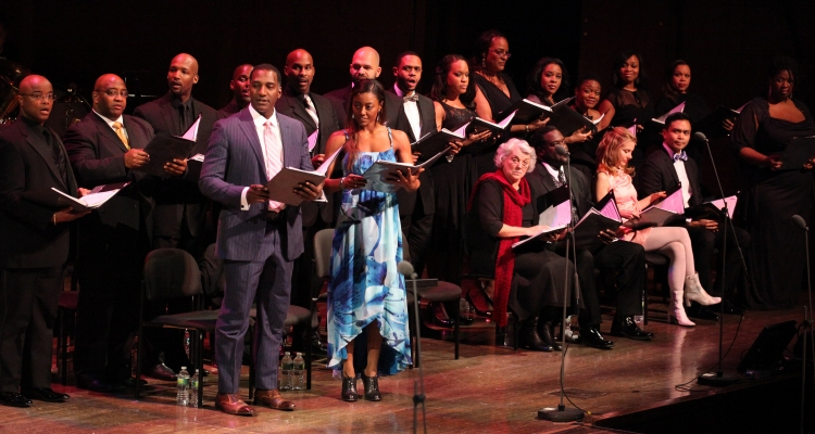 High Res Norm Lewis, Patins Miller, Tyne Daly, Phillip Boykin, Kerry Butler, Jose Llana & Na Tasha