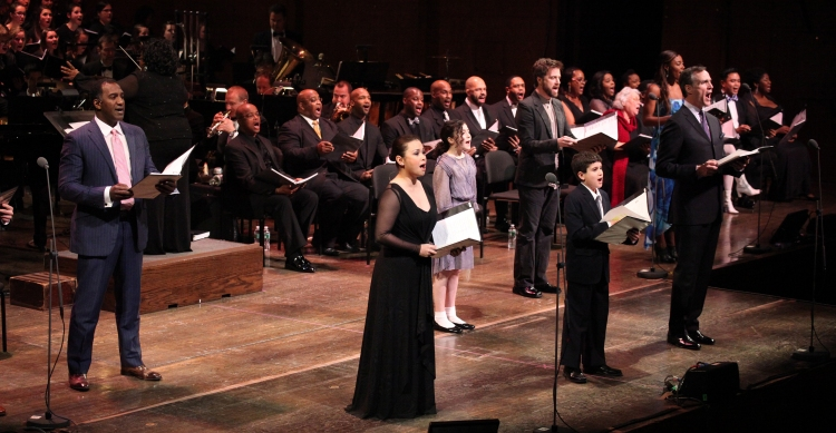 High Res Norm Lewis, Lea Salonga, Lilla Crawford, Manoel Felciano, Lewis Grosso, Howard McGillin, Patina Miller