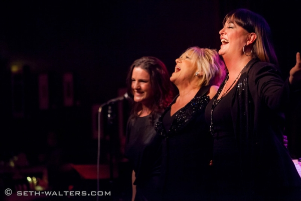 Carrie Manolakos, Lorna Luft and Ann Hampton Callaway