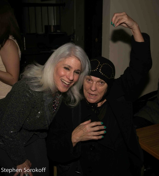 Jamie deRoy & Tyne Daly at Inside ALL IN THE TIMING's Opening Night After Party!