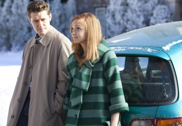 """GLEE: Will (Matthew Morrison, L) reaches out to Emma (Jayma Mays, R) in the """"Girls (And Boys) On Film"""" episode of GLEE  airing at a special time Thursday, March 7 (9:30-10:30 PM ET/PT) on FOX. ©2013 Fox Broadcasting Co. CR: Adam Rose/FOX"""
