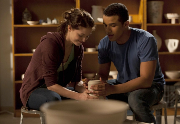"GLEE: Marley (Melissa Benoist, L) and Jake (Jacob Artist, R) make pottery together in the ""Girls (And Boys) On Film"" episode of GLEE  airing at a special time Thursday, March 7 (9:30-10:30 PM ET/PT) on FOX. ©2013 Fox Broadcasting Co. CR: Ad"