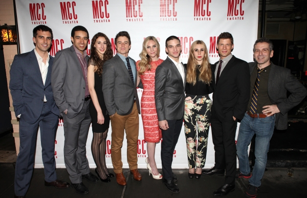 Playwright Paul Downs Colaizzo, Kobi Libii, Lauren Culpepper, David Hull, Aleque Reid, Evan Jonigkeit, Zosia Mamet, Matt Lauria & Director David Cromer
