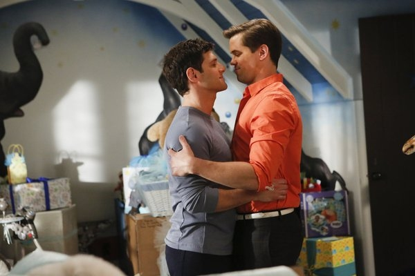 Justin Bartha, Andrew Rannells at THE NEW NORMAL's 'Rocky Bye Baby,' Airing 2/26
