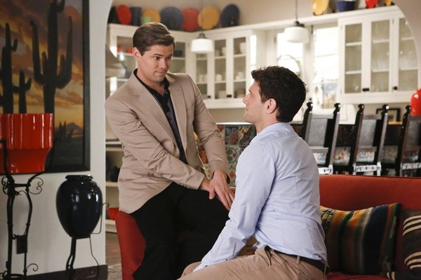 Andrew Rannells, Justin Bartha at THE NEW NORMAL's 'Rocky Bye Baby,' Airing 2/26