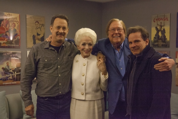 TOM HANKS, HOLLAND TAYLOR, BOB BOYETT (Bosom Buddies producer), PETER SCOLARI