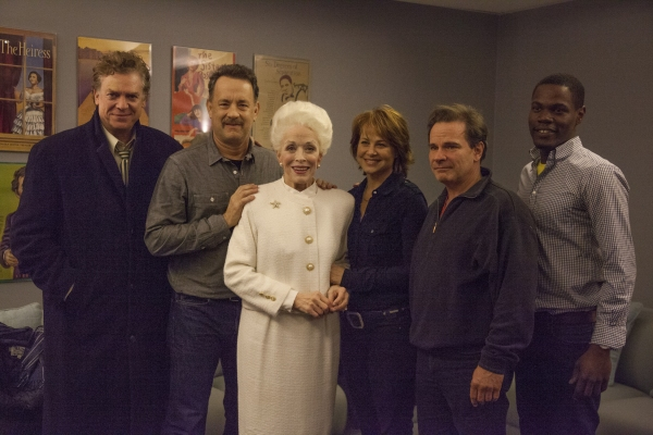 TOM HANKS, HOLLAND TAYLOR, BENJAMIN ENDSLEY KLEIN (ANN director), BOB BOYETT (ANN producer), PETER SCOLARI, HARRIET NEWMAN LEVE (ANN producer)