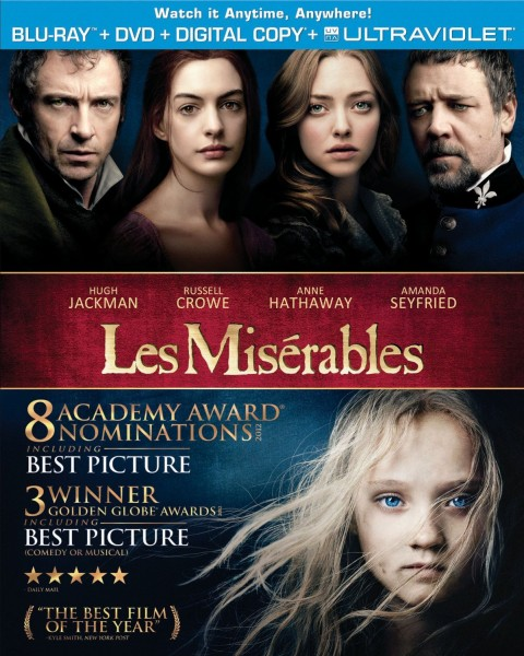 3 Editions Of LES MIS DVD/Blu Hitting Retailers 3/22