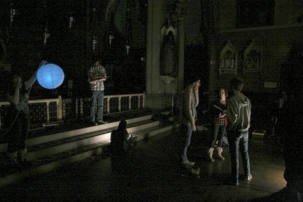 "Director Joe Barros collaborates with Jessica Grove (""Tamar"") on a scene from Tamar o Photo"
