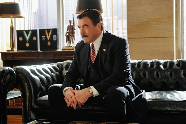 """""""Protest Too Much""""--  Frank (Tom Selleck) considers getting romantically involved with Whitney Robshaw, a woman from the ACLU who happens to be ErinÃÆ'�¢ÃÆ'��ÃÆ'��s acquaintance, on BLUE BLOODS, Friday, March"""