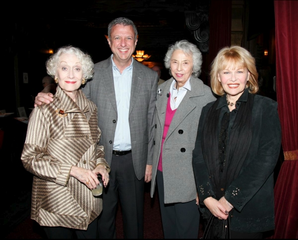 Actors Fund's Western Region Director, Keith McNutt, with Western Council members Jane A. Jonston, Barbara Allyne Bennet and Ilene Graff