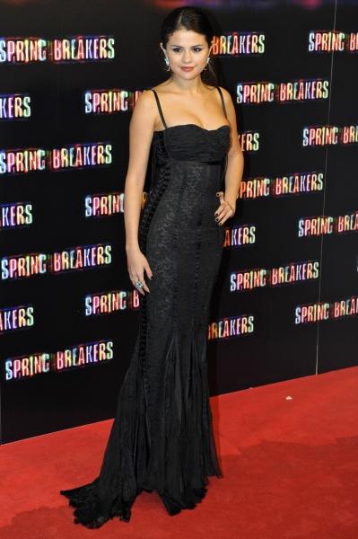 Selena Gomez at the 'Spring Breakers' film premiere in Madrid (Photo by Bravo Press SA/Rex USA)
