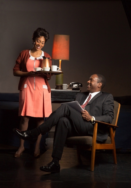 Lorraine Motel maid Camae (Simone Missick) offers  Dr. Martin Luther King, Jr. (Adrian Roberts) some coffee  and conversation.