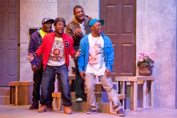 Brandon Markell Holmes (Darell),  Lawrence Williams (Malcolm), Kelvin Roston Jr. (Brian) and Coryandre Wright (J.R.)